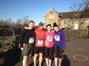 Me with Alison, Lynne and Barry before the race.